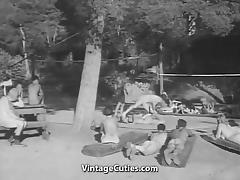 1930, 18 19 Teens, Beach, Classic, Nudist, Outdoor