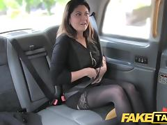 Brunette, Big Cock, Brunette, Car, Cum, Cumshot