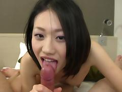 Subtitled uncensored Japanese amateur blowjob and sex in