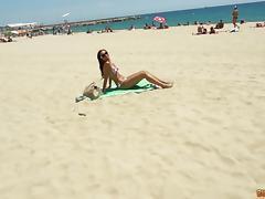 Bikini, Babe, Beach, Bikini, Couple, Cumshot