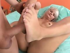 Feet, Blonde, Cumshot, Feet, Fetish, Footjob