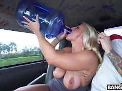 Big Cock, Babe, Big Cock, Big Tits, Blonde, Blowjob