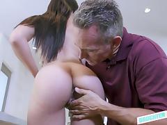 Daddy, Babe, Blowjob, Handjob, Small Tits, Teen