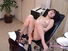 Patient Licked Fucked With Sticks By The Nurse On The Chair In The Surgery