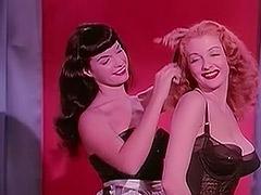 1950, Ass, Babe, BBW, Brunette, Classic