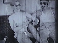 1950, Babe, Blonde, Blowjob, Classic, Double