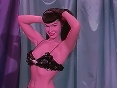 Bettie Stripping in Sparkling Clothes 1950