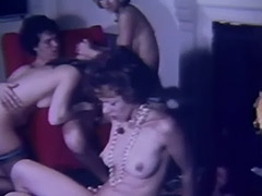 Wild Swingers Orgy in Living Room 1960