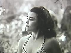 1950, Babe, Brunette, Classic, Group, Handjob
