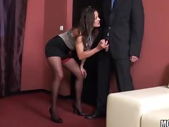 Horny Boss Valentina Cruz in High Heels and Stockings Fucking in the Office video