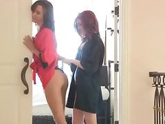 Elle And Malena Teases One Another In Sexy Underwear