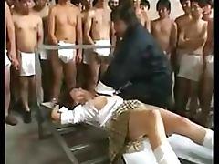 Asian Gets Bukkake and Creampie By Dozens Of Guys