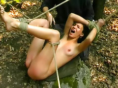 Skinny, BDSM, Outdoor, Skinny, Spanking, Strip