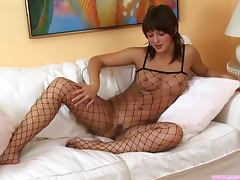 Brunette, Ass, Bodystocking, Brunette, Fetish, Fingering