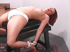 Redhead bound and gagged and sexy