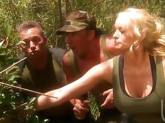 3some, Army, Big Tits, Bitch, Blonde, Blowjob
