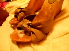 shoes schuhe heels wedges cumshot
