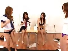 Asian teens classroom toying pussy