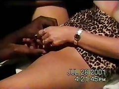 Blonde wife fucks a BBC in the theater Part1