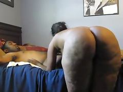 Thick Black MILF Riding Dick