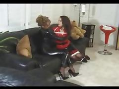 Bondage Latex Girl on Girl