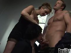 Horny blondie did not know that her husband is gay