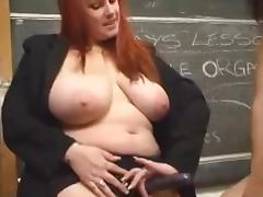 Big tit school fun