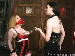Hot Lesbian Strapon Fuck By Latex Clad Dominatrix Anastasia Pierce