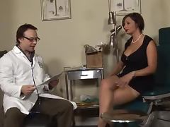 Sperm collector Vannah Sterling fucks a doctor in his office video