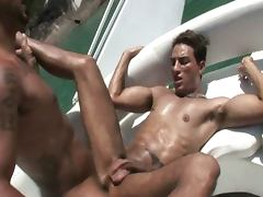 Horny latin bareback outdoors