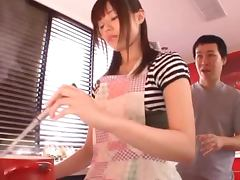 Japanese Housewife Fucked Hard In The Kitchen