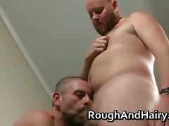 Two gay dudes do some rimming and ass