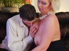 Gorgeous mature business lady pays him to get his cock