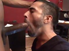 dude sucking giant black cock