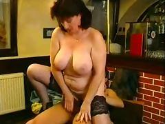 Bar, Bar, German, Mature, Mature Big Tits, German Big Tits