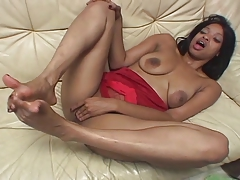 5some, Bimbo, Black, Ebony, Feet, Footjob