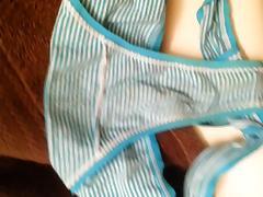 cumshot on buddys gf panties