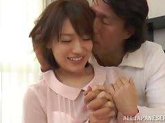 Riko Honda enjoys a raunchy moment with some horny dude