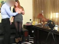 Sexy and petite amateur honey did a great job in the casting video