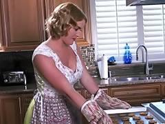 Wife, Black, Blonde, Bra, Kitchen, MILF