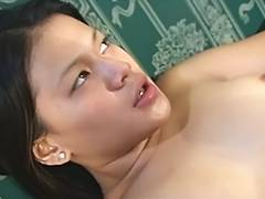 Oriental hottie pounded hard