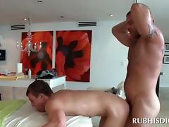 Straight dude and his first gay anal sex with a masseur