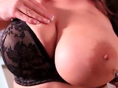 Big boobed in black lingerie