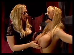 Blonde bound and gagged by mistress