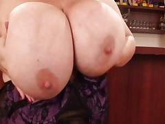 Chubby MILF with massive mammaries
