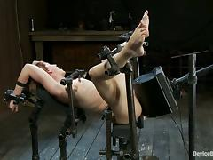 All, BDSM, Bondage, Machine, Redhead, Short Hair