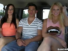 Backseat, Backseat, Blonde, Blowjob, Brunette, POV