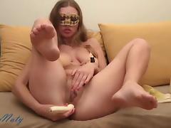 Banana, Amateur, Anal, Assfucking, Banana, Masturbation