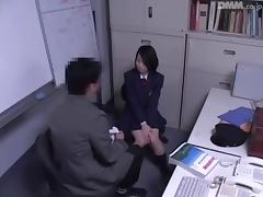 Hot Japanese floozy got fucked by a horny policeman