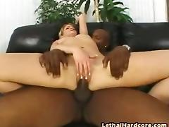 Kira is a petite blonde chick that has never had a black cock before....